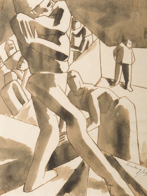david-bomberg-stairwell-drawing-no-3