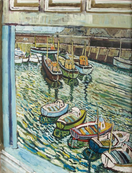 john-bratby-protracted-summer-on-the-water