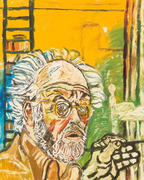 john-bratby-self-portrait-with-yellow-background