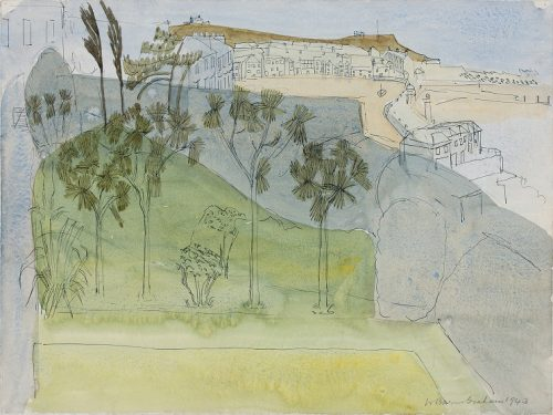 Wilhelmina Barns-Graham, Untitled I (View of St Ives), 1943 (Photography by Simon Cook)